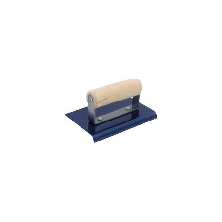 Quart de rond à main acier bleui 15*15 cm