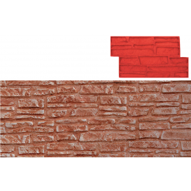 Matrice motif brique rustique