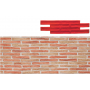 Matrice motif brique d'argile castilla